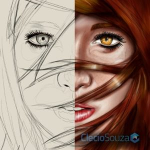 Redhead Girl – Digital Mobile Paiting